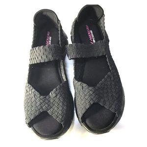 Sketchers memory foam sandals sneakers open toe